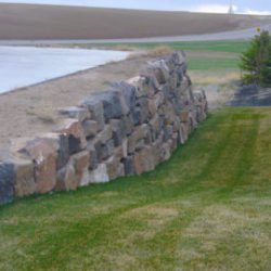 Landscaping with a Lava Rock Retaining Wall