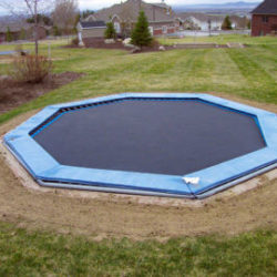 Landscaping with a Buried Trampoline