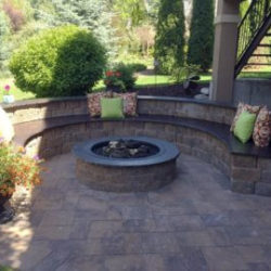 Outdoor Gas fire pit for landscaping
