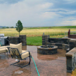Landscaping with outdoor kitchens