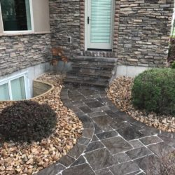Paver walk way