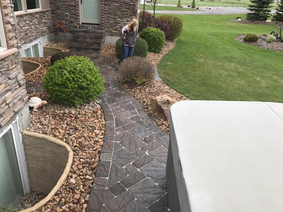 paver walk way to get to Hot Tub