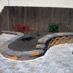 Small Retaining wall around planters