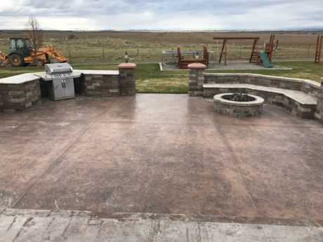 stone outdoor kitchens