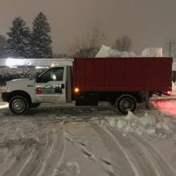 Snow Removal truck in Rexburg Idaho.